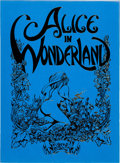 Memorabilia:Comic-Related, Frank Brunner Alice in Wonderland Portfolio Signed #958/1000 (Golden Graphics, 1977).... (Total: 7 Items)