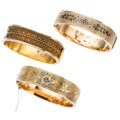 Estate Jewelry:Bracelets, Victorian Enamel, Gold Bracelets. ... (Total: 3 Items)