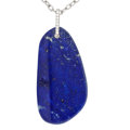Estate Jewelry:Necklaces, Lapis Lazuli, Diamond, White Gold Pendant-Necklace, Eli Frei. ...