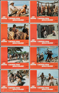 "I Escaped from Devil's Island & Other Lot (United Artists, 1973). Lobby Card Sets of 8 (2 Sets) (11"" X 14""..."
