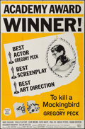 "Movie Posters:Drama, To Kill a Mockingbird (Universal, 1963). One Sheet (27"" X 41"") Academy Awards Style. Drama.. ..."
