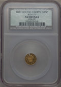 California Fractional Gold , 1871 50C Liberty Round 50 Cents, BG-1011, R.2, -- Holed -- NCS. AUDetails. NGC Census: (0/110). PCGS Population: (2/35...