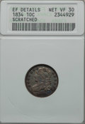 Bust Dimes: , 1834 10C Small 4 -- Scratched -- ANACS. XF Details, Net VF30. NGCCensus: (16/257). PCGS Population: (8/194). Mintage ...