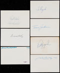 Baseball Collectibles:Others, Baseball Greats Signed Index Cards Lot of 7....