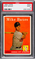 Baseball Cards:Singles (1950-1959), 1958 Topps Mike Baxes #302 PSA Mint 9 - Pop Four, None Higher. ...