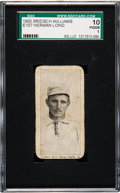 Baseball Cards:Singles (Pre-1930), 1903 E107 Breisch Williams Herman Long (Ad Back) SGC 10 Poor 1 -Just Two Graded by SGC! ...