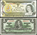 Canadian Currency, Canada Bank of Canada $1.... (Total: 2 notes)