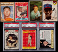 Baseball Cards:Lots, 1953-63 Baseball HoFers Collection (7) With Mantle....