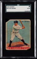 Baseball Cards:Singles (1930-1939), 1933 Goudey Lou Gehrig #92 SGC Authentic....