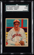 "Baseball Cards:Singles (1930-1939), 1934-36 Diamond Stars Ernie Lombardi ""Earnie"" Error #36 SGC 80 EX/NM 6...."