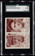 Baseball Cards:Singles (1940-1949), 1941 Double Play Ted Williams/Jim Tabor #57/58 SGC 35 Good+ 2.5....