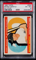 Baseball Cards:Singles (1960-1969), 1960 Topps Mickey Mantle All-Star #563 PSA EX-MT 6....