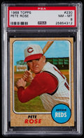 Baseball Cards:Singles (1960-1969), 1968 Topps Pete Rose #230 PSA NM-MT 8....