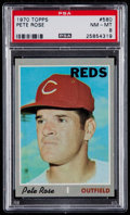 Baseball Cards:Singles (1970-Now), 1970 Topps Pete Rose #580 PSA NM-MT 8....