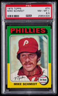 Baseball Cards:Singles (1970-Now), 1975 Topps Mike Schmidt #70 PSA NM-MT+ 8.5....