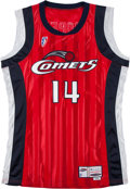 Basketball Collectibles:Uniforms, 2000-01 Cynthia Cooper Game Worn Houston Comets Jersey ...