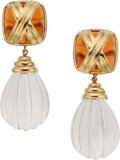 Estate Jewelry:Earrings, Quartz, Gold Earrings, MAZ. ...