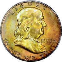 1956 50C MS67 Full Bell Lines PCGS. CAC....(PCGS# 86671)