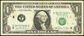 Error Notes:Ink Smears, Fr. 1911-F $1 1981 Federal Reserve Note. Fine-Very Fine.. ...