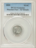 Early Half Dimes, 1800 H10C V-1, LM-1, R.3 -- Planchet Flaw -- PCGS Genuine. XFDetails....
