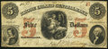 Obsoletes By State:Rhode Island, East Greenwich, RI- Rhode Island Central Bank $5 Oct. 1, 1855. ...