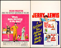 """Who's Been Sleeping in My Bed? & Other Lot (Paramount, 1963). Window Cards (2) (14"""" X 22""""). Comedy. ... (T..."""