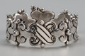 Silver Smalls:Other , A Hector Aguilar Silver Bracelet, Taxco, Mexico, circa 1940-1945.Marks: HA, TAXCO, 940. 8-1/4 inches long (21.0 cm). 3....