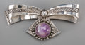 Silver Smalls:Other , A William Spratling Silver and Amethyst Brooch, Taxco, Mexico,circa 1940-1946. Marks: WS, SPRATLING, MADE IN MEXICO,SPRA...