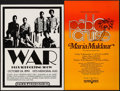 "Movie Posters:Rock and Roll, War at Vets Memorial Auditorium & Other Lot (PacificPresentations, 1970s). Concert Window Cards (2) (15.5"" X 21"" &13.5"" X ... (Total: 2 Items)"