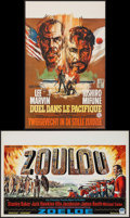 "Movie Posters:War, Zulu & Other Lot (Embassy, 1964). Belgians (2) (13.25"" X 21""& 14.25"" X 21.25""). War.. ... (Total: 2 Items)"