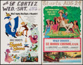 "Movie Posters:Animation, The Sword in the Stone & Others Lot (Buena Vista, 1964). Window Cards (6) (14"" X 22"") & Promo Flyer (9"" X 12""). Animation.. ... (Total: 7 Items)"