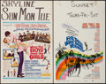 "Movie Posters:Musical, When the Boys Meet the Girls & Others Lot (MGM, 1965). Window Cards (4) (14"" X 22""). Musical.. ... (Total: 4 Items)"