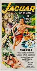 "Movie Posters:Adventure, Jaguar & Others Lot (Republic, 1955). Three Sheets (2) (41"" X79"" & 41"" X 80"") & One Sheet (27"" X 41""). Adventure.. ...(Total: 3 Items)"