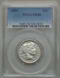 Proof Barber Quarters: , 1899 25C PR58 PCGS. PCGS Population (3/219). NGC Census: (1/151). Mintage: 846. ...