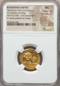 Ancients:Byzantine, Ancients: Heraclius (AD 610-641), with Heraclius Constantine. AVsolidus (4.50 gm)....