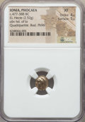 Ancients:Greek, Ancients: IONIA. Phocaea. Ca. 477-388 BC. EL 1/6th stater or hecte(2.52 gm). NGC XF 4/5 - 5/5....