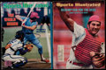 Baseball Collectibles:Publications, Mike Schmidt and Johnny Bench Signed Sports Illustrated Magazines (2)....