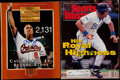 Baseball Collectibles:Publications, George Brett and Cal Ripken Jr. Signed Sports Illustrated Magazines(2)....