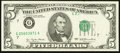 Error Notes:Printed Tears, Fr. 1974-G $5 1977 Federal Reserve Note. About Uncirculated.. ...