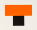 Prints, Ellsworth Kelly (1923-2015). Red-Orange over Black, 1970. Screenprint in colors on Arjomari paper. 25 x 30 inches (63.5 ...