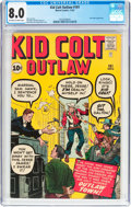 Silver Age (1956-1969):Western, Kid Colt Outlaw #101 (Atlas/Marvel, 1961) CGC VF 8.0 Off-white towhite pages....