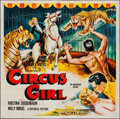 "Movie Posters:Adventure, Circus Girl & Other Lot (Republic, 1956). Six Sheet (79.5"" X80"") & One Sheet (27"" X 41""). Adventure.. ... (Total: 2 Items)"