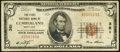 National Bank Notes:Maryland, Cumberland, MD - $5 1929 Ty. 1 The First NB Ch. # 381. ...