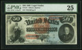 Large Size:Legal Tender Notes, Fr. 151 $50 1869 Legal Tender PMG Very Fine 25.. ...