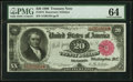 Large Size:Treasury Notes, Fr. 374 $20 1890 Treasury Note PMG Choice Uncirculated 64.. ...