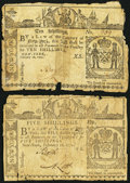 Colonial Notes, New York February 16, 1771 Very Good.... (Total: 2 notes)