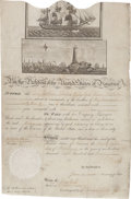 Autographs:U.S. Presidents, Thomas Jefferson Signed Scallop Top Ship's Passport. ...