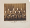 Autographs:Statesmen, Charles E. Hughes Supreme Court Photo Signed by Eight Justices. ...
