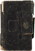 "Militaria:Ephemera, Union Soldier's Diary kept by Charles H. Adams of Co. ""K"",Massachusetts 2nd Heavy Artillery. ..."