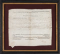 Autographs:Statesmen, Patrick Henry Land Grant Signed as Governor of Virginia....